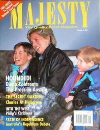 <!--1993-05-->Majesty magazine - Princess Diana cover (May 1993 - Volume 14