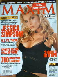 <!--2002-01-->MAXIM magazine - Jessica Simpson cover (January 2002 - US Edition)