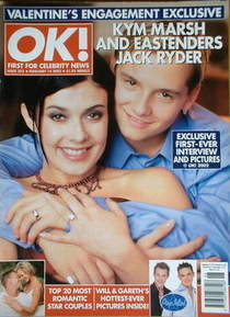 Ok Magazine Kym Marsh And Jack Ryder Cover 14 February 2002 Issue 302