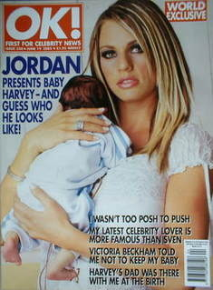 <!--2002-06-19-->OK! magazine - Jordan Katie Price cover (19 June 2002 - Is