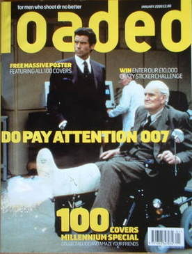 <!--2000-01-->Loaded magazine - James Bond cover (January 2000)