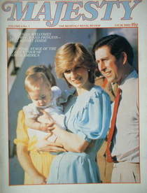 Majesty magazine - Prince Charles, Princess Diana and Prince William cover (May 1983 - Volume 4 No 1)