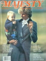 <!--1983-12-->Majesty magazine - Princess Diana and Prince William cover (December 1983 - Volume 4 No 8)