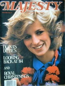 <!--1985-01-->Majesty magazine - Princess Diana cover (January 1985 - Volum