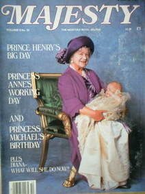 <!--1985-02-->Majesty magazine - The Queen Mother and Prince Harry cover (F