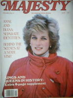 <!--1985-03-->Majesty magazine - Princess Diana cover (March 1985 - Volume 5 No 11)