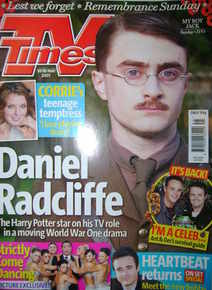 <!--2007-11-10-->TV Times magazine - Daniel Radcliffe cover (10-16 November