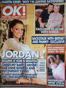 <!--2002-01-24-->OK! magazine - Jordan Katie Price cover (24 January 2002 -