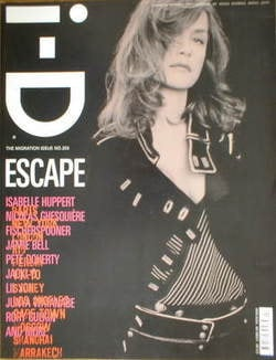 <!--2005-04-->i-D magazine - Isabelle Huppert cover (April 2005)