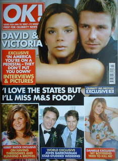 <!--2007-01-23-->OK! magazine - David Beckham and Victoria Beckham cover (2