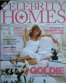 Celebrity Homes magazine - Goldie Hawn cover (July 2004)