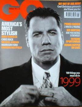 British GQ magazine - January 1999 - John Travolta cover