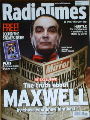 <!--2007-04-28-->Radio Times magazine - David Suchet cover (28 April-4 May