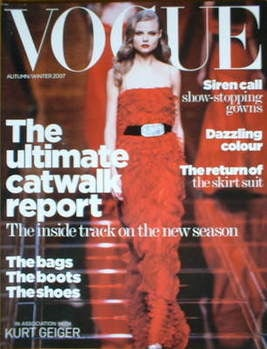 British Vogue supplement - The Ultimate Catwalk Report (Autumn/Winter 2007)