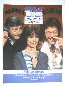 TV Times cover page - Michael Aspel, Una Stubbs and Lionel Blair (TV sectio