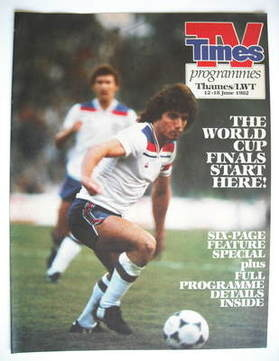 TV Times cover page - Kevin Keegan (TV section - 12-18 June 1982)