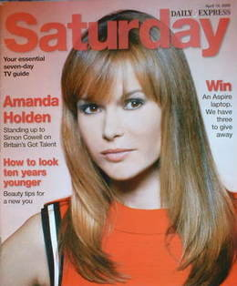 <!--2008-04-19-->Saturday magazine - Amanda Holden cover (19 April 2008)