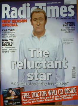 <!--2007-01-06-->Radio Times magazine - Nicholas Lyndhurst cover (6-12 Janu