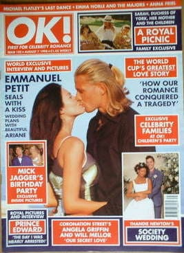 <!--1998-08-07-->OK! magazine - Emmanuel Petit cover (7 August 1998 - Issue