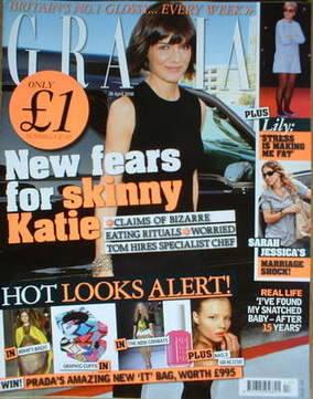 <!--2008-04-28-->Grazia magazine - Katie Holmes cover (28 April 2008)