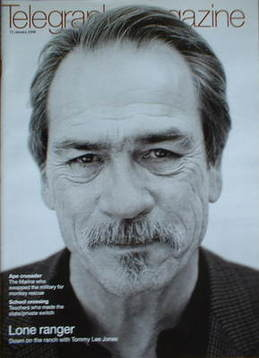 <!--2008-01-12-->Telegraph magazine - Tommy Lee Jones cover (12 January 200