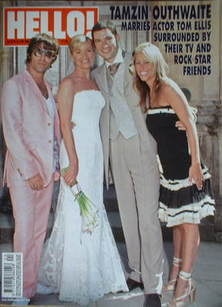 <!--2006-06-20-->Hello! magazine - Tamzin Outhwaite and Tom Ellis cover (20