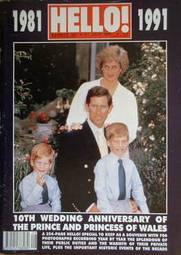 <!--1991-07-27-->Hello! magazine - Princess Diana and Prince Charles cover
