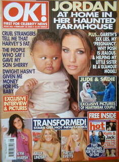 <!--2003-02-25-->OK! magazine - Jordan Katie Price cover (25 February 2003