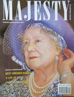 <!--1990-04-->Majesty magazine - The Queen Mother cover (April 1990 - Volum