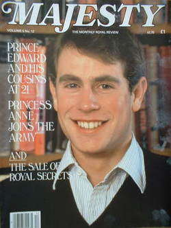 <!--1985-04-->Majesty magazine - Prince Edward cover (April 1985 - Volume 5