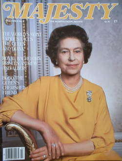 <!--1985-07-->Majesty magazine - Queen Elizabeth II cover (July 1985 - Volu