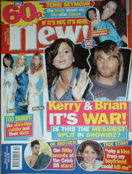 New magazine - 31 January 2005 - Kerry Katona and Brian McFadden cover