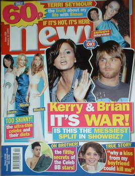 <!--2005-01-31-->New magazine - 31 January 2005 - Kerry Katona and Brian Mc