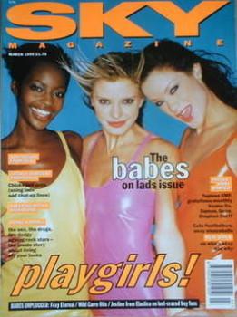 Sky magazine - Carolyn Murphy, Karen Ferrari and Kiara cover (March 1995)