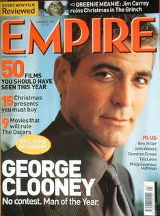 <!--2001-01-->Empire magazine - George Clooney cover (January 2001 - Issue