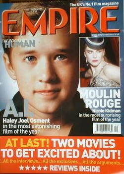 <!--2001-10-->Empire magazine - Haley Joel Osment cover (October 2001 - Iss