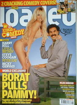 <!--2007-06-->Loaded magazine - Pamela Anderson and Sacha Baron Cohen cover