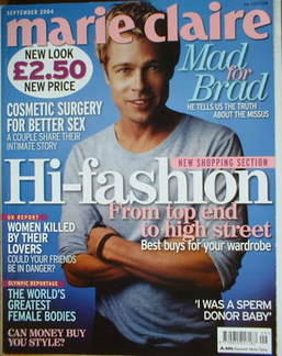 <!--2004-09-->British Marie Claire magazine - September 2004 - Brad Pitt co