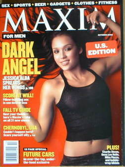 <!--2000-10-->MAXIM magazine - Jessica Alba cover (October 2000 - US Editio