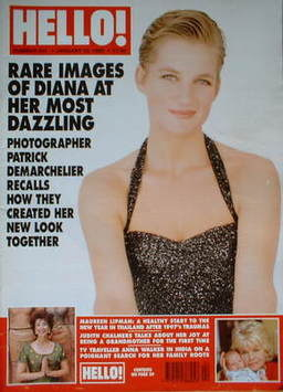 <!--1998-01-10-->Hello! magazine - Princess Diana cover (10 January 1998 -