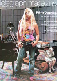 <!--2004-01-24-->Telegraph magazine - Donatella Versace cover (24 January 2