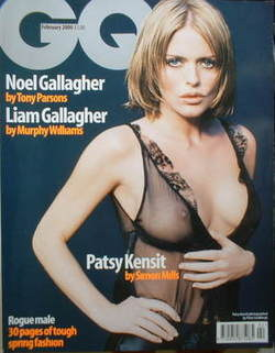 <!--2000-02-->British GQ magazine - February 2000 - Patsy Kensit cover
