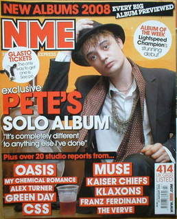 <!--2008-01-19-->NME magazine - Pete Doherty cover (19 January 2008)