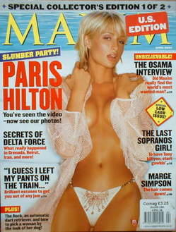 <!--2004-04-->MAXIM magazine - Paris Hilton cover (April 2004 - US Edition)