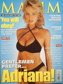 <!--1998-12-->MAXIM magazine - Adriana Sklenarikova cover (December 1998)