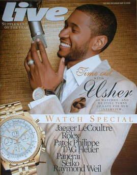<!--2008-05-18-->Live magazine - Usher cover (18 May 2008)