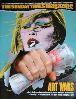 <!--2008-03-30-->The Sunday Times magazine - Art Wars cover (30 March 2008)