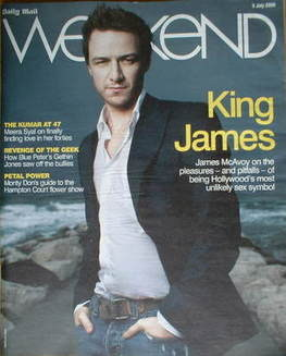 Weekend magazine - James McAvoy cover (5 July 2008)