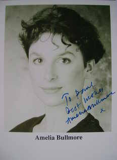 Amelia Bullmore autograph (hand-signed photograph, dedicated)