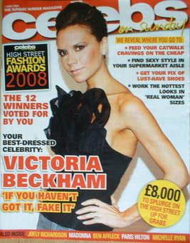 <!--2008-06-01-->Celebs magazine - Victoria Beckham cover (1 June 2008)